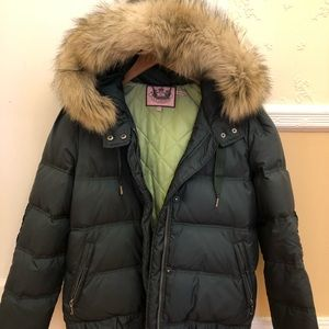 Juicy Couture warm jacket with ruffled details.